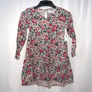 Old Navy Girls Long Sleeve Floral Dress Size 6-7